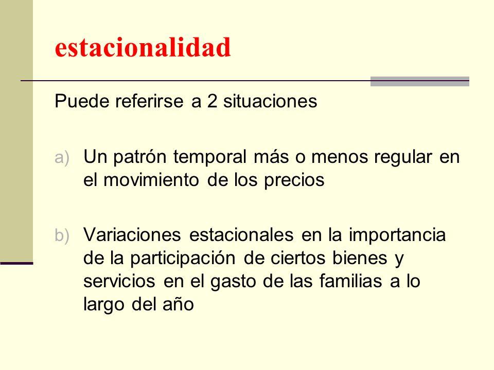 estacionalidad Puede referirse a 2 situaciones
