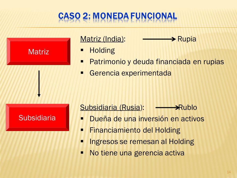 Caso 2: Moneda funcional
