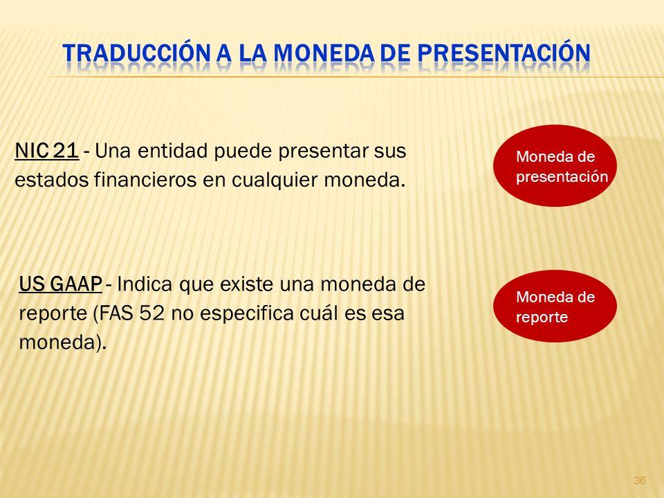Traducción a la moneda de presentación