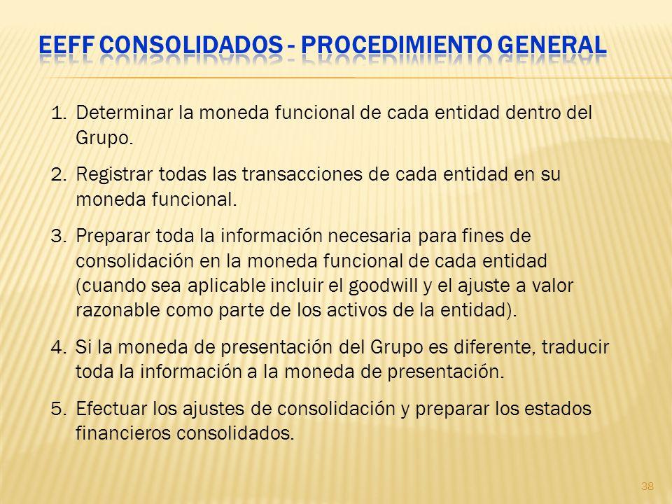 EEFF consolidados - procedimiento general