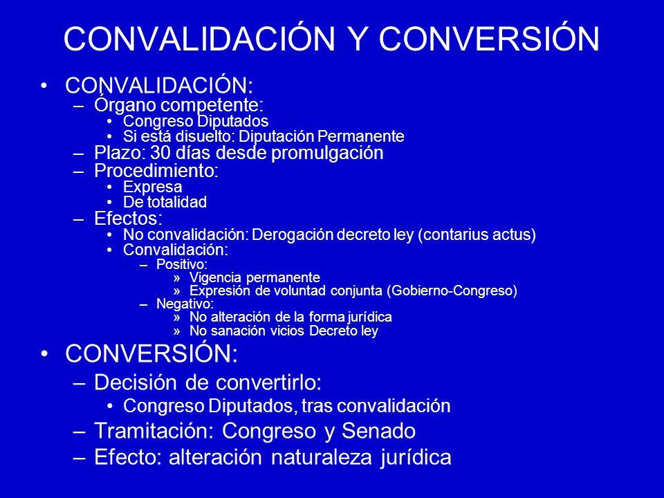 CONVALIDACIÓN Y CONVERSIÓN