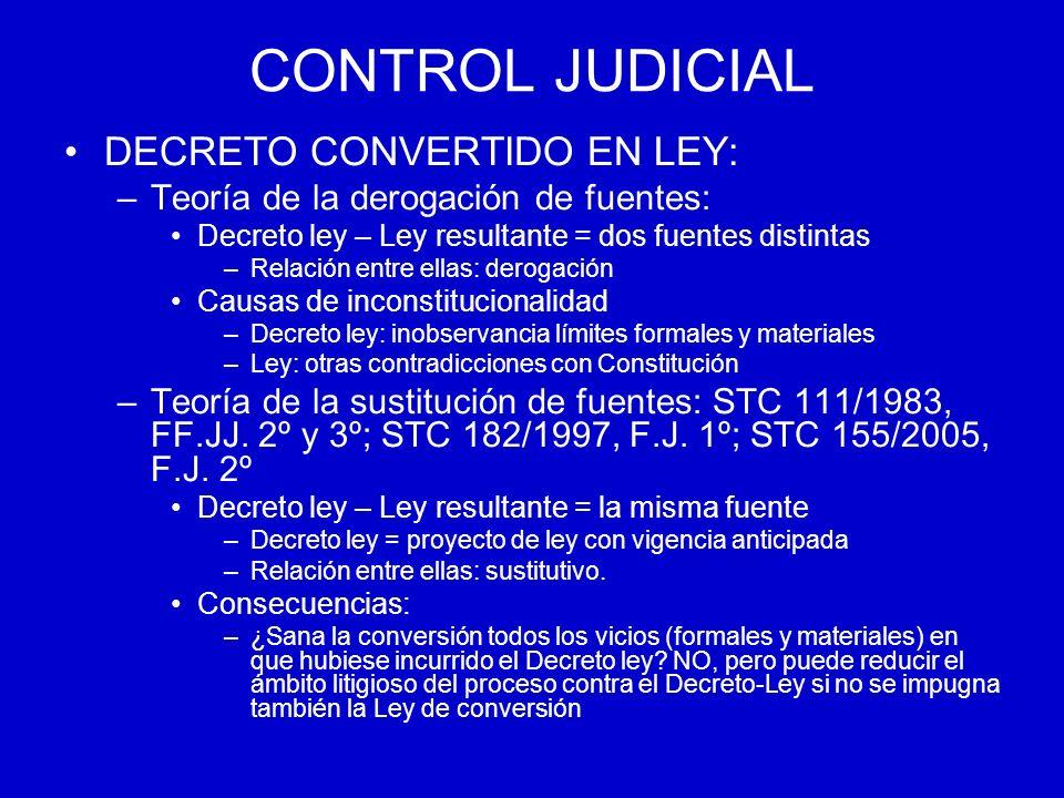 CONTROL JUDICIAL DECRETO CONVERTIDO EN LEY: