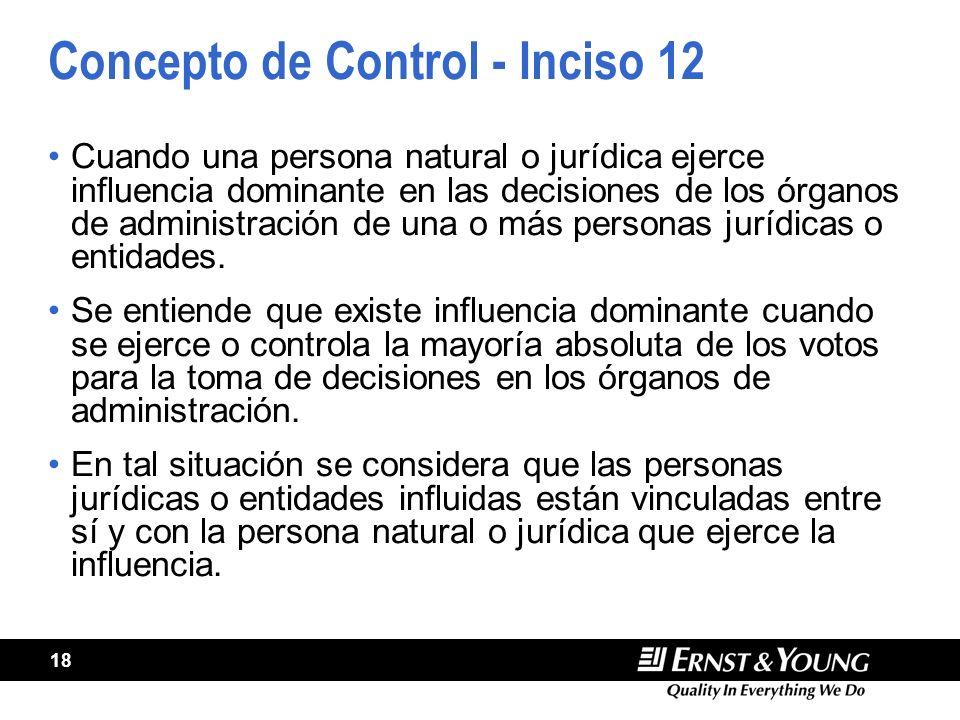Concepto de Control - Inciso 12