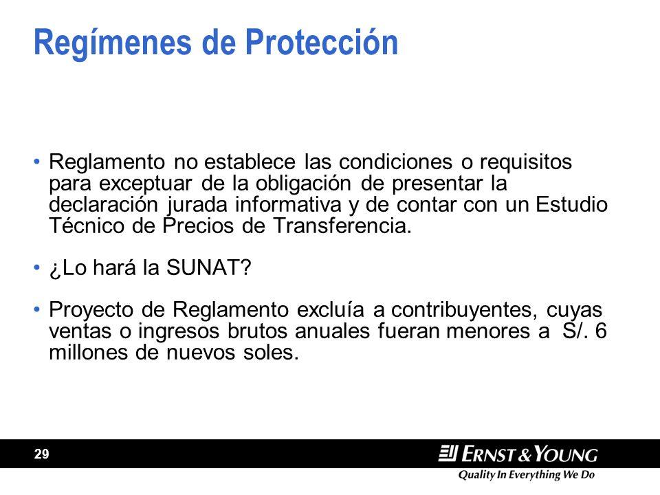Regímenes de Protección