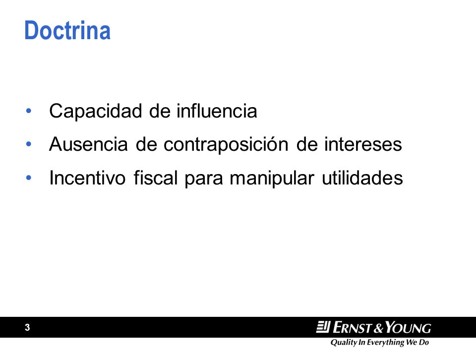 Doctrina Capacidad de influencia
