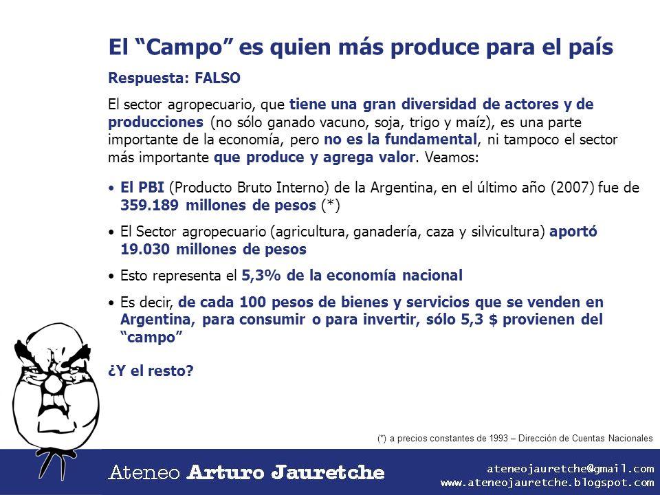 El Campo es quien más produce para el país