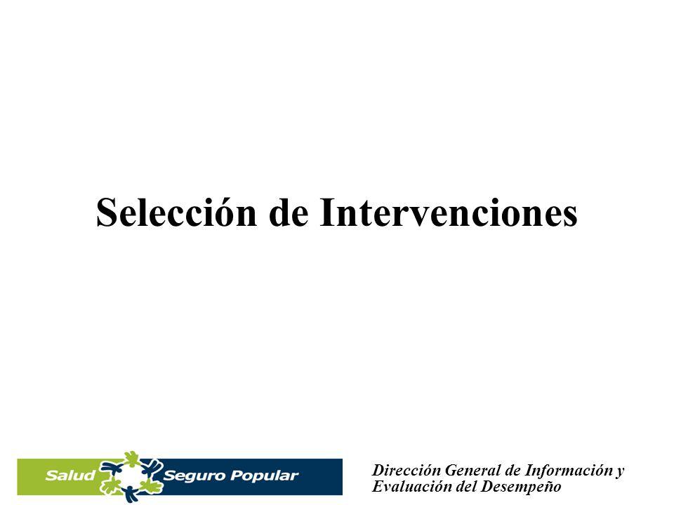 Selección de Intervenciones