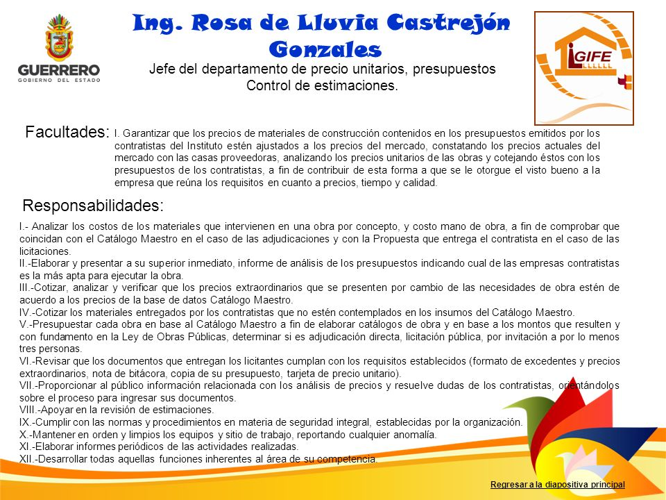 Ing. Rosa de Lluvia Castrejón