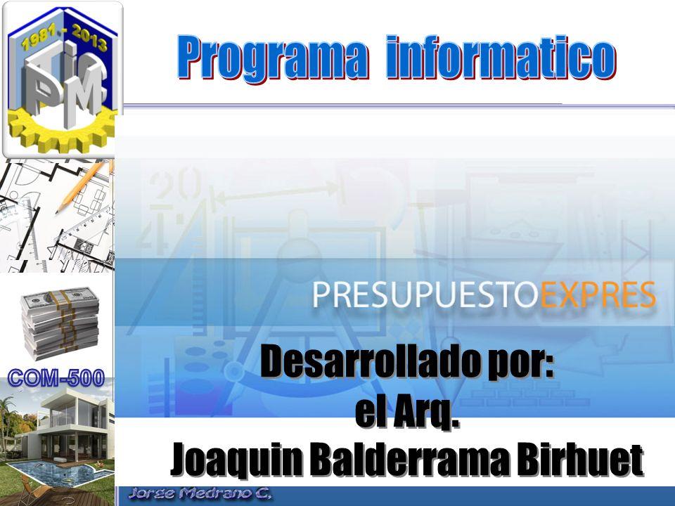 Joaquin Balderrama Birhuet