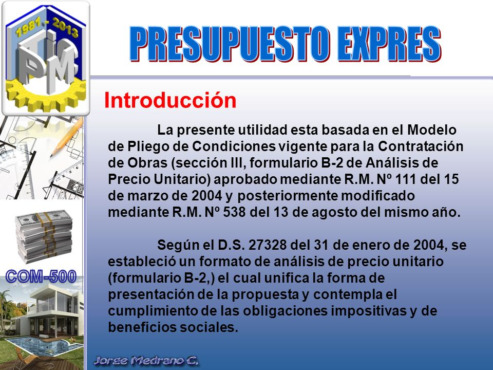 PRESUPUESTO EXPRES Introducción