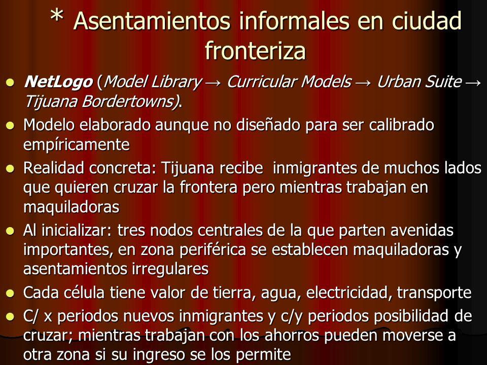 * Asentamientos informales en ciudad fronteriza