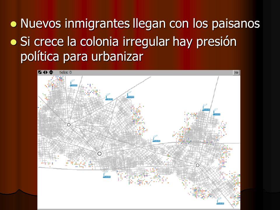 Nuevos inmigrantes llegan con los paisanos