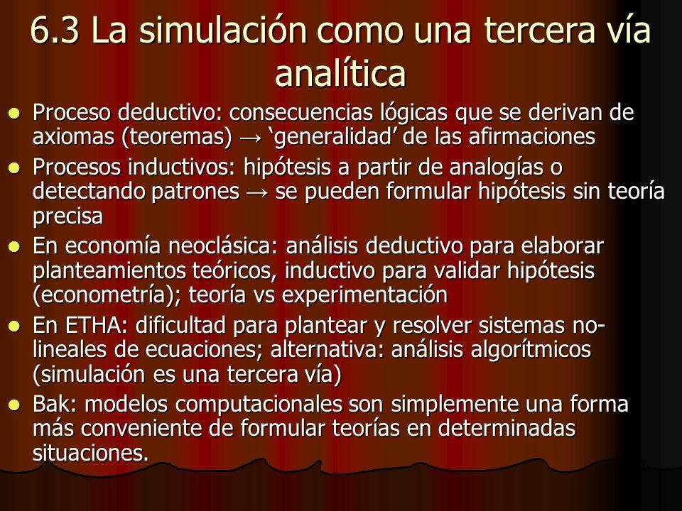 6.3 La simulación como una tercera vía analítica
