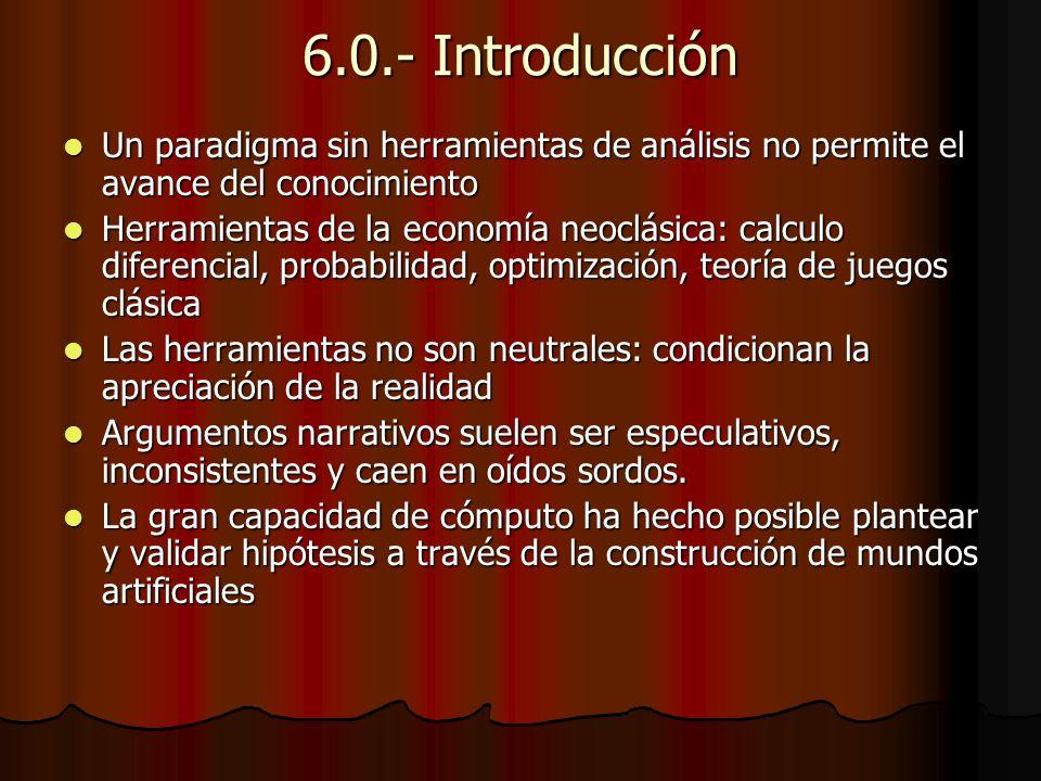 6.0.- Introducción Un paradigma sin herramientas de análisis no permite el avance del conocimiento.