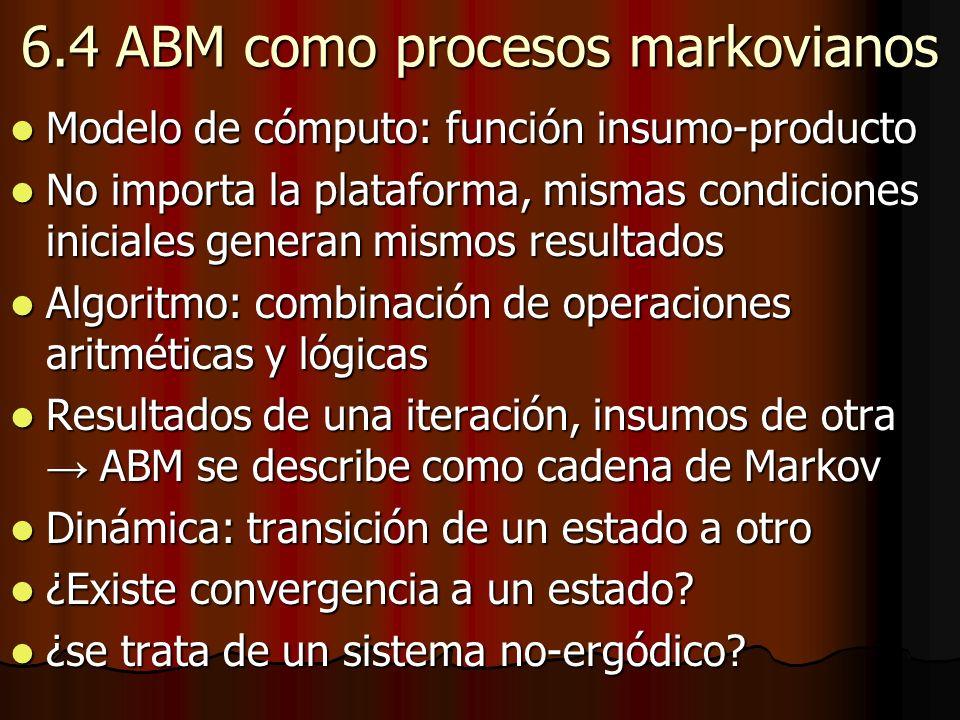 6.4 ABM como procesos markovianos