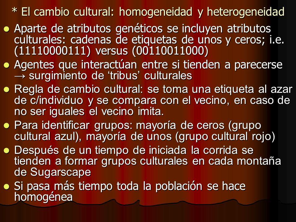 * El cambio cultural: homogeneidad y heterogeneidad