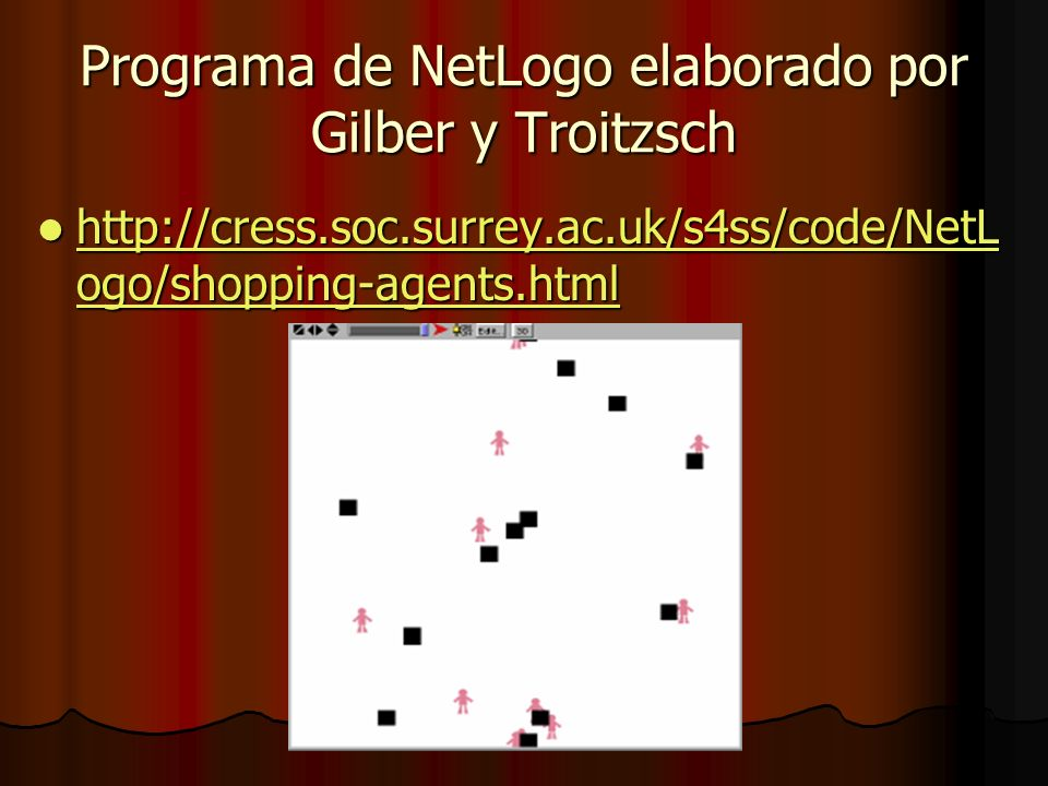 Programa de NetLogo elaborado por Gilber y Troitzsch