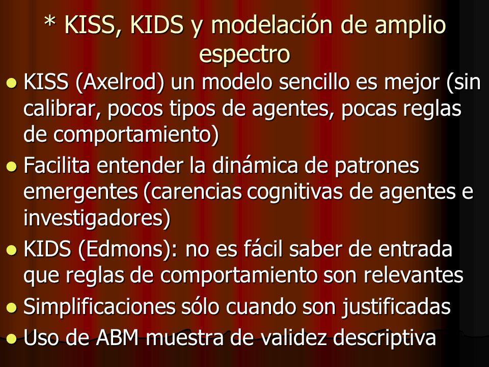 * KISS, KIDS y modelación de amplio espectro
