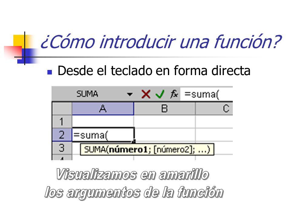 ¿Cómo introducir una función