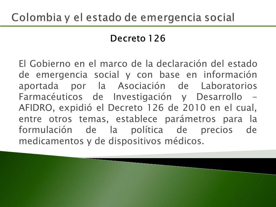Colombia y el estado de emergencia social