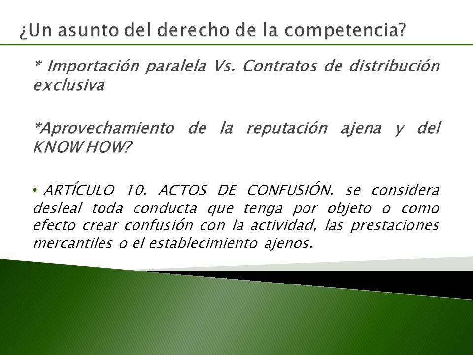 ¿Un asunto del derecho de la competencia