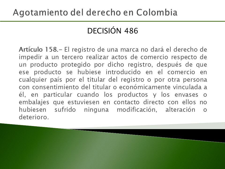 Agotamiento del derecho en Colombia
