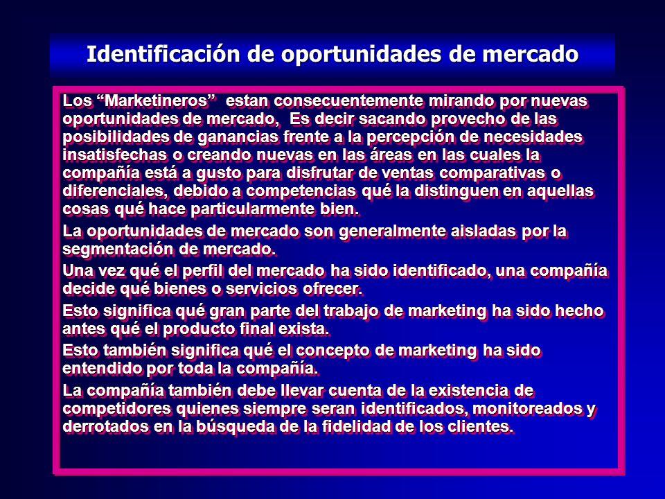 Identificación de oportunidades de mercado
