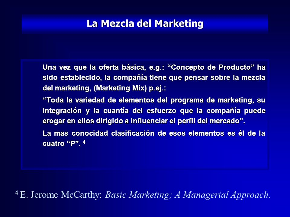 La Mezcla del Marketing