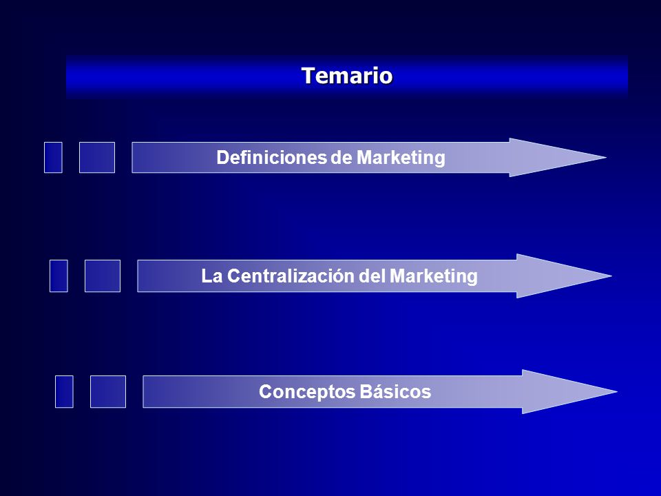 Definiciones de Marketing La Centralización del Marketing