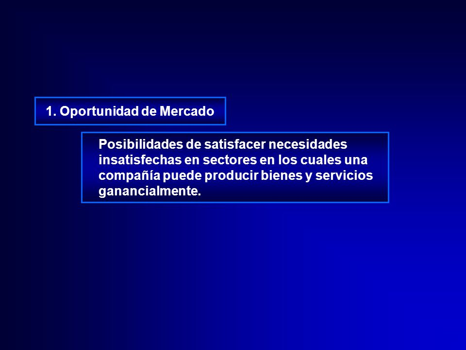 1. Oportunidad de Mercado