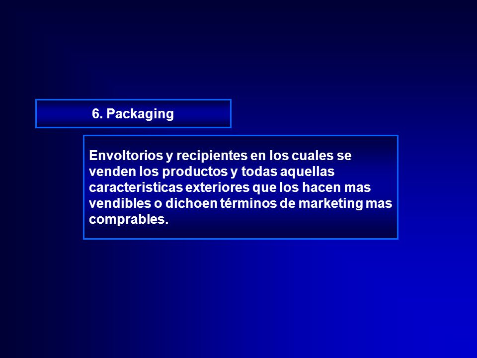 6. Packaging