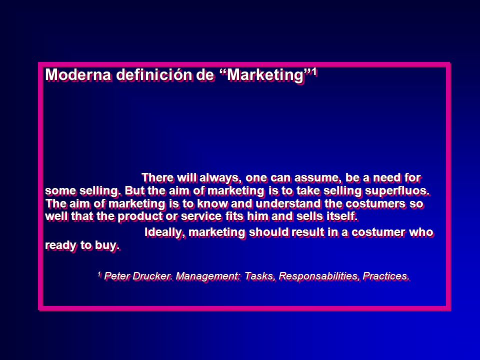 Moderna definición de Marketing 1