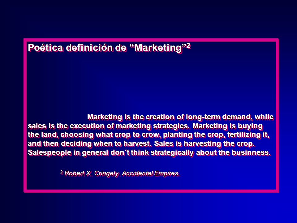 Poética definición de Marketing 2