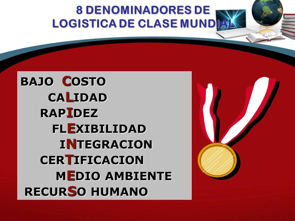 8 DENOMINADORES DE LOGISTICA DE CLASE MUNDIAL