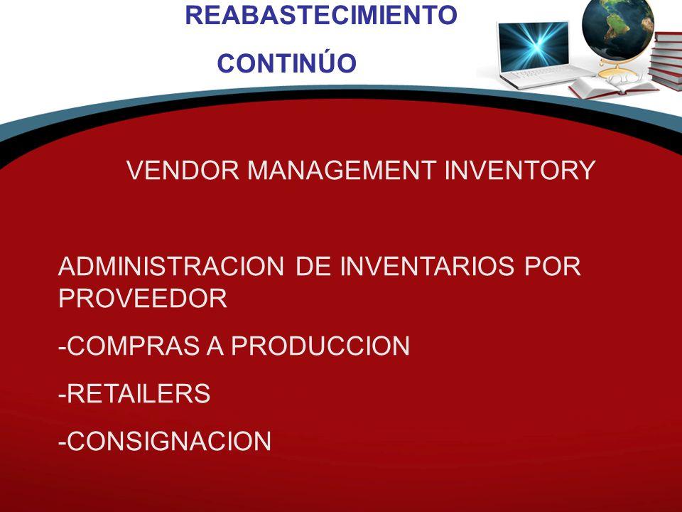 VENDOR MANAGEMENT INVENTORY
