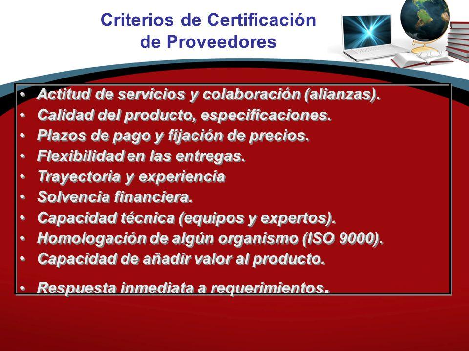 Criterios de Certificación