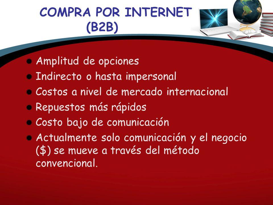 COMPRA POR INTERNET (B2B)