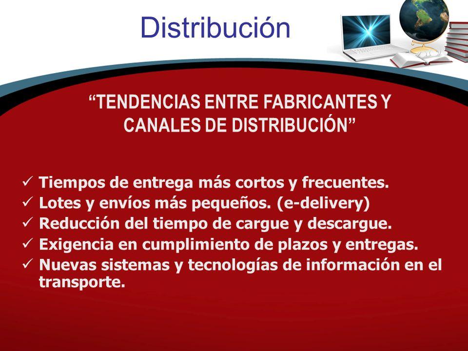 TENDENCIAS ENTRE FABRICANTES Y CANALES DE DISTRIBUCIÓN