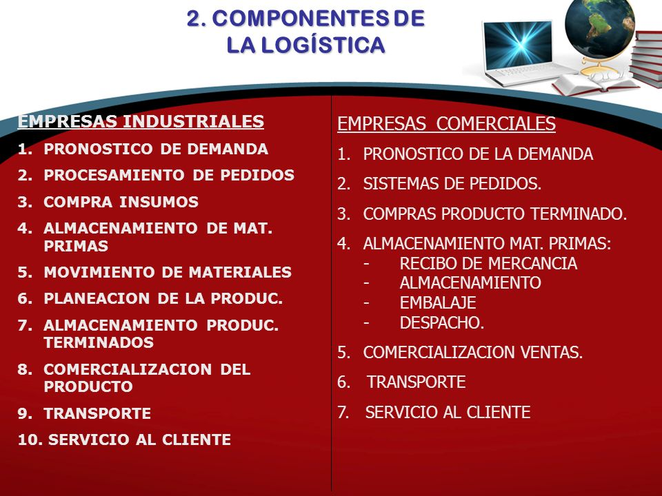 2. COMPONENTES DE LA LOGÍSTICA