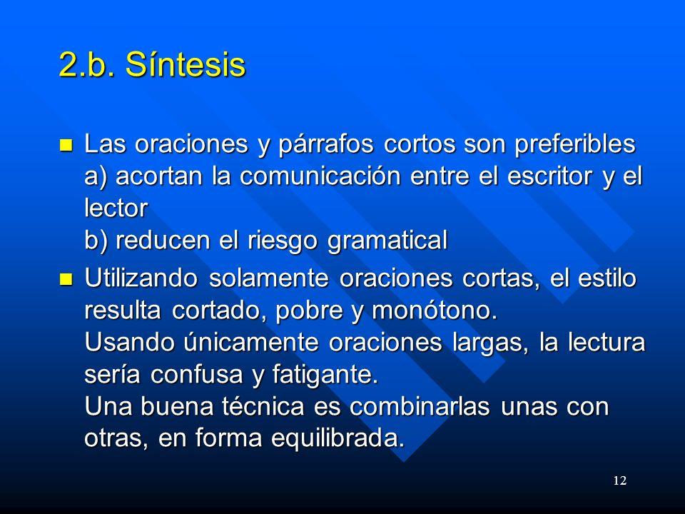 2.b. Síntesis