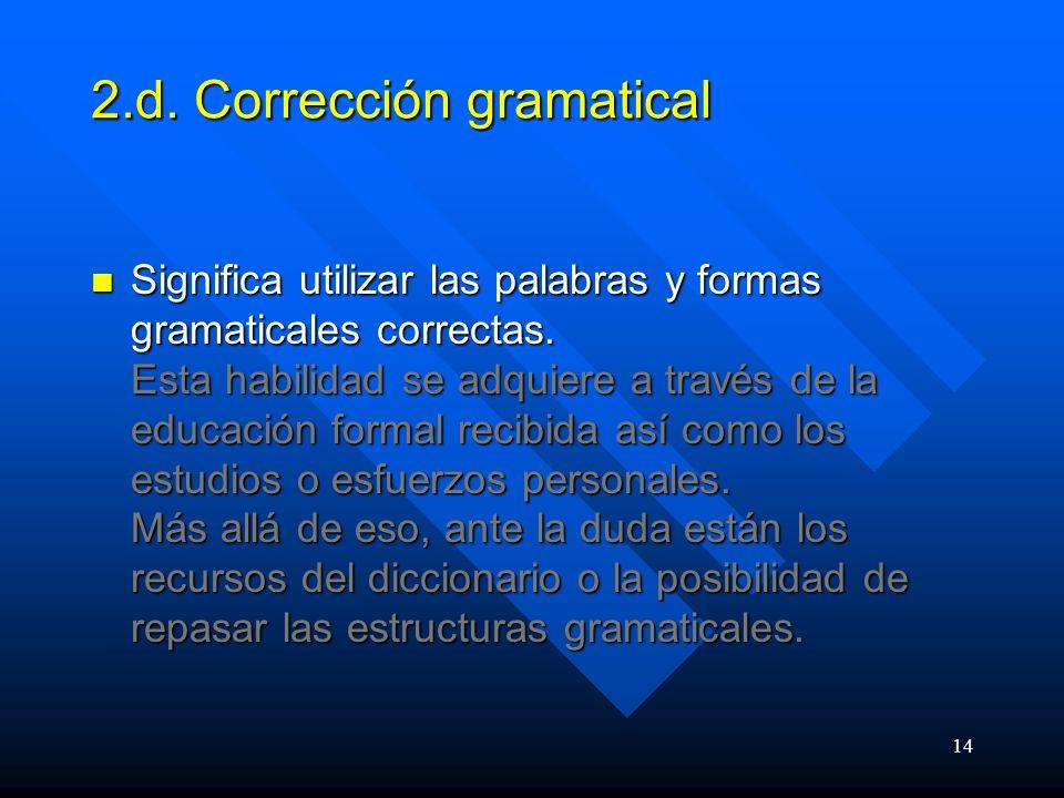 2.d. Corrección gramatical