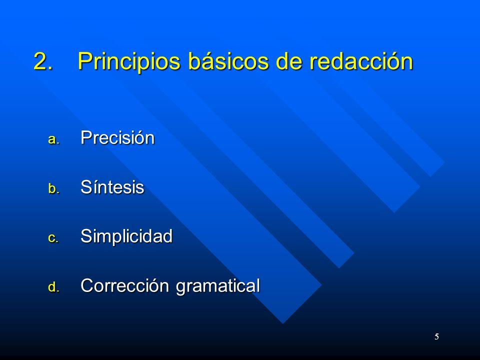 Principios básicos de redacción
