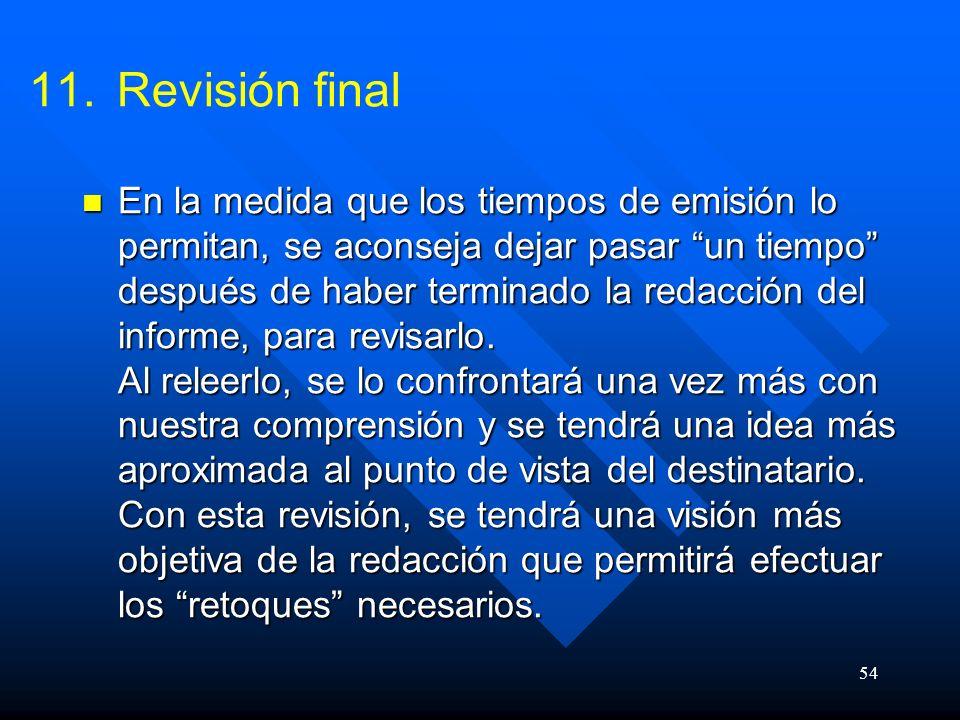 Revisión final