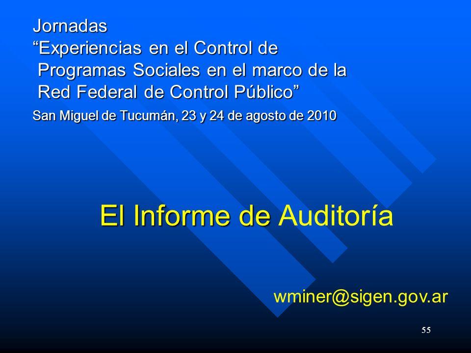 El Informe de Auditoría