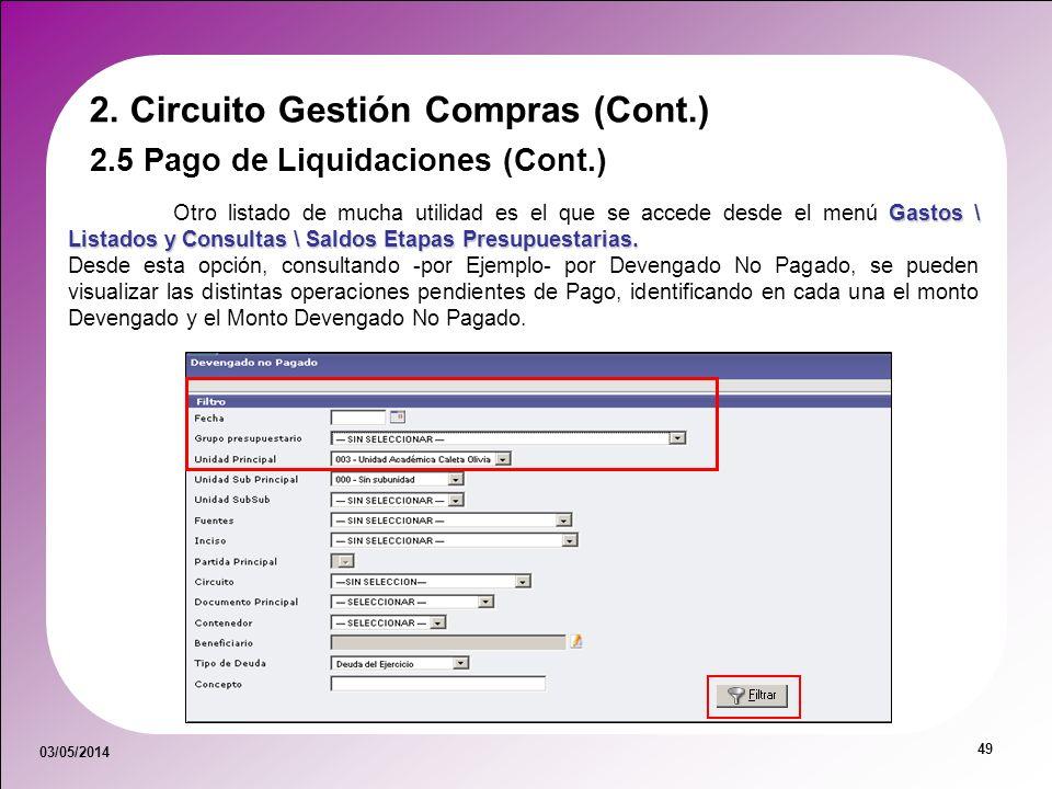 2. Circuito Gestión Compras (Cont.)
