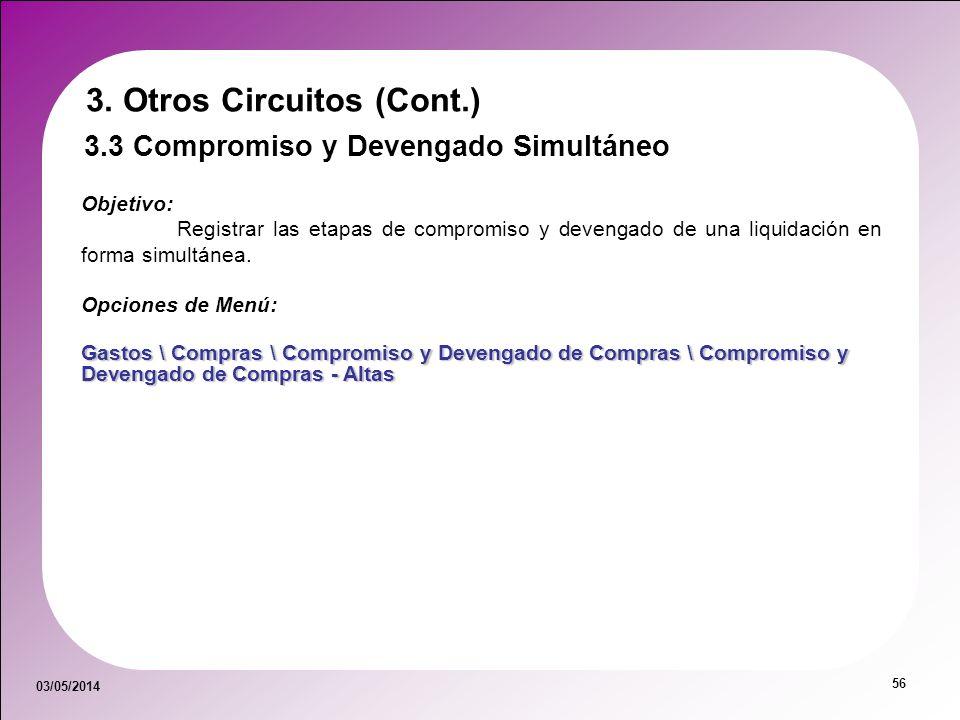 3. Otros Circuitos (Cont.)