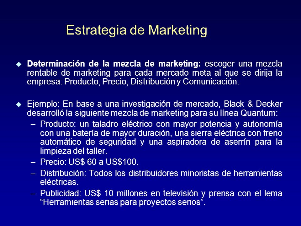 Estrategia de Marketing
