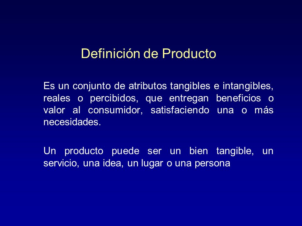 Definición de Producto