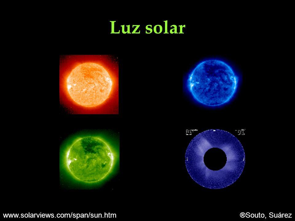 Luz solar www.solarviews.com/span/sun.htm ®Souto, Suárez