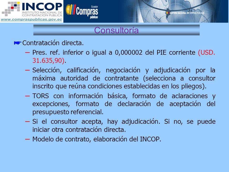Consultoría Contratación directa.
